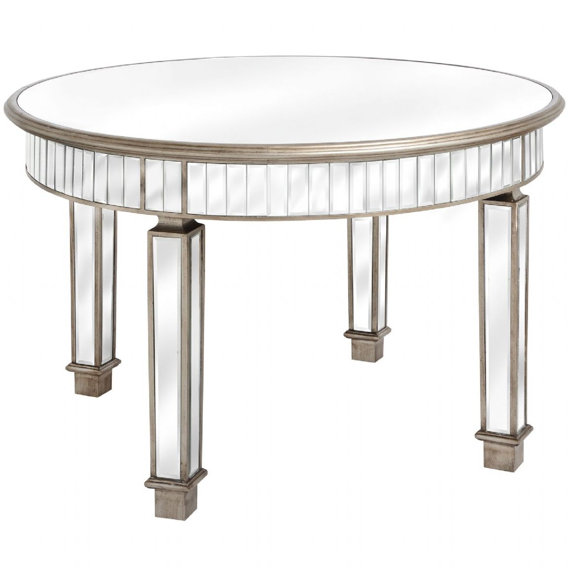 Carlyon Mirrored Circular Dining Table - Special Order